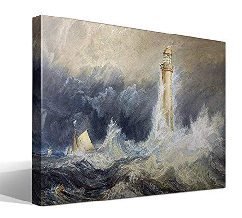 Cuadro Canvas Faro de la Roca de Bell de Joseph Mallord William Turner