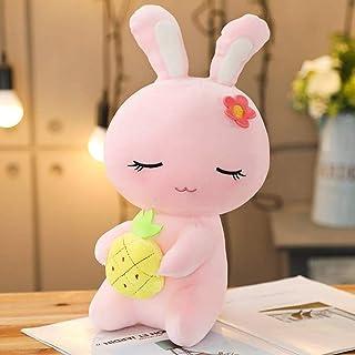 SYXX New fashion fruit bunny doll rag doll small girl plush toy cute hug rabbit girl princess children dolls, cute and bea...