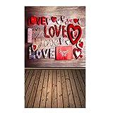 LUCOG Saint Valentin amour coeur photographie toile de fond vinyle photo fond Prop cadeau Dégagement Vente