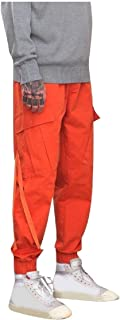 Winwinus Men Cotton Relaxed Fit Cargo Work Beam Foot Trousers Tenths Pants