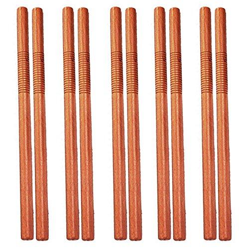 Contiene 10pezzi Corto stock per Escrima, arnis o autodifesa Diametro: circa 66cm di lunghezza, circa 3cm Legno duro (rosso Quercia) Impugnatura scanalata abgesetzter per una presa migliore