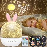 Baby Night Light Projector - BeMyLady Star Projector Light for Kids,Built-in Music