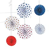 Fun Express - Patriotic Hanging Fan W/stars for Fourth of July - Party