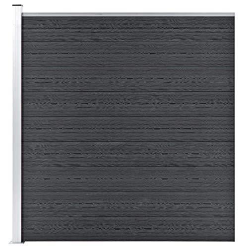 Preisvergleich Produktbild vidaXL Gartenzaun Sichtschutzzaun Windschutzzaun Lamellenzaun Windschutz Sichtschutz Zaun Element Garten Terrasse WPC 180x186cm Grau