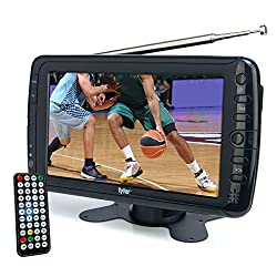 top 10 portable television digital Tyler TTV701 Portable 7-inch wide-screen LCD TV, removable antenna, USB / SD card slot, integrated …
