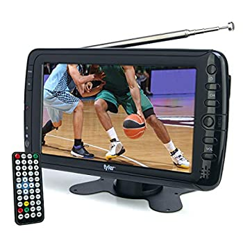 Tyler 7  Portable TV LCD Monitor Rechargeable Battery Powered Wireless Capability HD-TV USB SD Card AC/DC Remote Control Built In Stand Small For Car Kids Travel