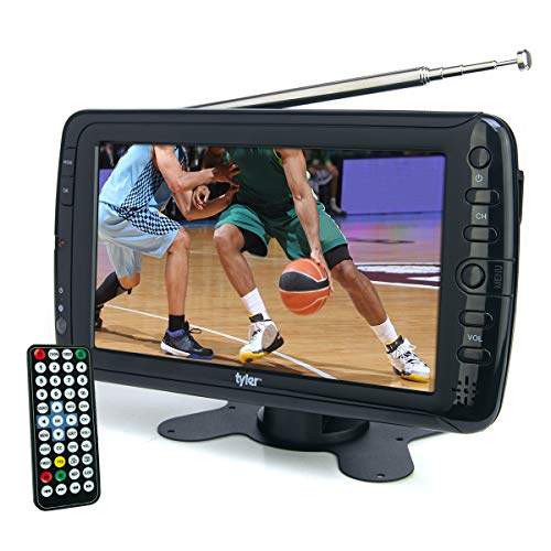 """Tyler 7"""" Portable TV LCD Monitor Rechargeable Battery Powered Wireless Capability HD-TV, USB, SD Card, AC/DC, Remote Control Built In Stand Small For Car Kids Travel"""