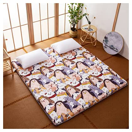 HFAFRZ Colchón de futón japonés, plegable tradicional de algodón Tatami, colchón de...
