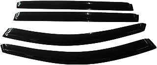 Window Visor Compatible With 2004-2009 Toyota Sienna XL20   Slim Style Acrylic Smoke Tinted Sun Rain Shade Guard Wind Vent Air Deflector by IKON MOTORSPORTS   2005 2006 2007 2008