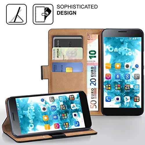 MoEx® Booklet mit Flip Funktion [360 Grad Voll-Schutz] für Huawei P9 Plus | Geldfach und Kartenfach + Stand-Funktion und Magnet-Verschluss, Schwarz - 2