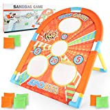 Bean Bag Tossing Game, Divertente Target Toss Game per Bambini dai 3 Anni in su, Include t...
