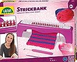Lena 42680 Kit de tricot avec banc à tricoter, kit complet d'apprentissage avec crochet en métal, aiguille en plastique et fil de différentes couleurs assorties pour enfants à partir de 6 ans