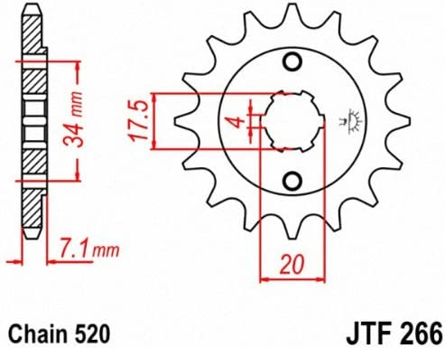 JT Sprockets JTF266.13 13T Steel Front Sprocket