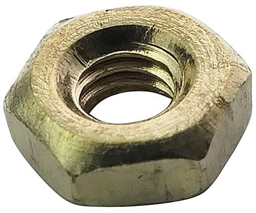 Aerzetix: 100x écrou héxagonal M2.5 5mm H2mm DIN934 Laiton C19191