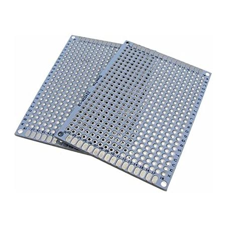 """5x7CM Double Side Prototype Board Perforated Through Hole 0.1"""" White - Pack of 2"""