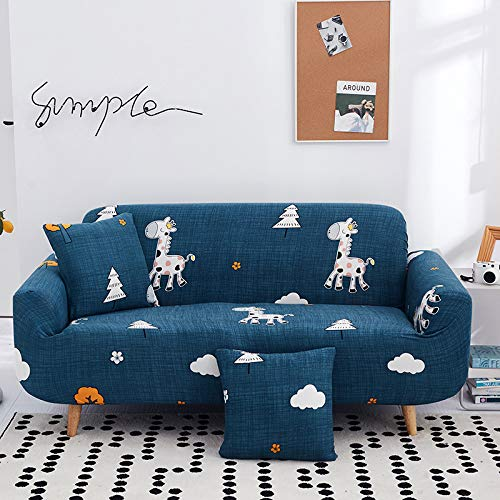 QWEASDZX Sofa Cover, Stretchable Sofa Cover To Replace Non-Slip Furniture Protective Cover 4 Seater(230-300cm)