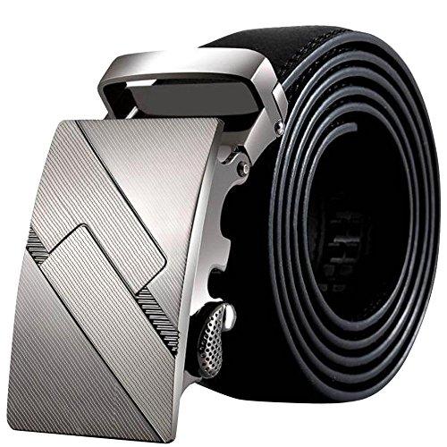 Belt Buckles, BOBOLover Men PU Leather Automatic Buckle Belts Fashion Waist Belt Waist Belt