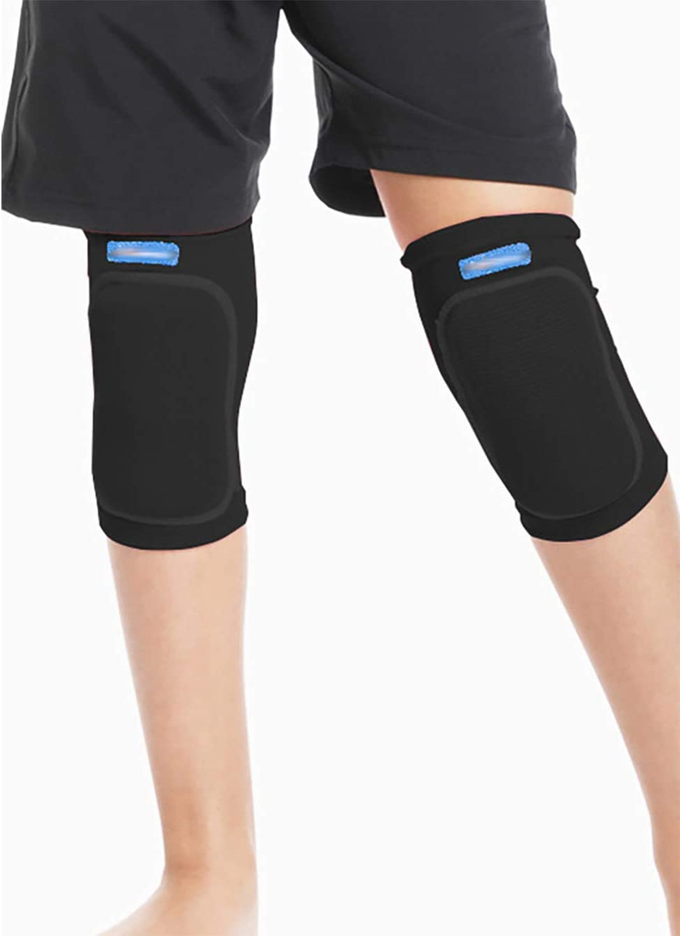 AIBEARTY 1 Pair Kids Protective Knee Pads Non-Slip Breathable Flexible Elastic Knee Sleeve Pad Protector for Volleyball Dance Basketball Baseball Wrestling Cycling Skiing