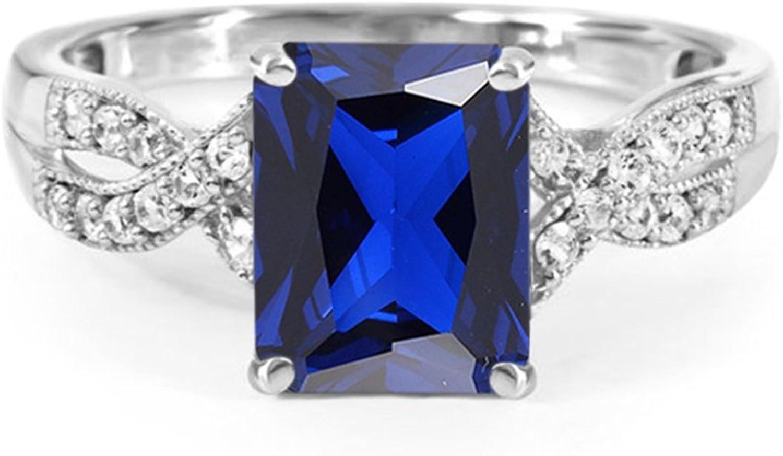 Vorra Fashion Solid Wei Platin Sterling Silber Schner Infinity Stil Ring