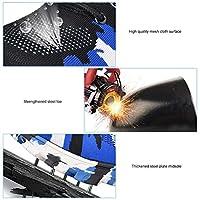 鋼のつま先を強化するための男性の安全靴のクッションの仕事の安全ブーツの仕事のブーツ(Camouflage blue, 39)