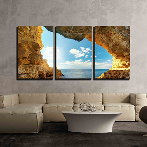 wall26 - 3 Piece Canvas Wall Art - Inside of Mainsail. Nature Composition. - Modern Home Art Stretched and Framed Ready to Hang - 16'x24'x3 Panels