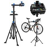 Hengmei - Soporte para reparación de bicicletas (plegable y de altura regulable, soporta hasta 50 kg)