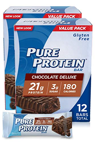 Pure Protein Bars High Protein Nutritious Snacks to Support Energy Low Sugar Gluten Free Chocolate Deluxe 176oz 6 Pack 2 Pack