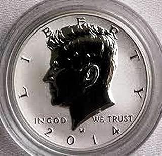 2014 W Kennedy 2014 W Reverse Proof Silver Kennedy Half Dollar Very Good DCAM