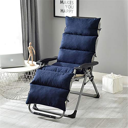 Patio Chaise Lounger Cushion for Chaise Lounge Chair Indoor, Outdoor, Office Lounge Chair Suede Cushion,Blue,50175cm