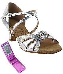 Very Fine Ballroom Latin Tango Salsa Dance Shoes for Women S92307 2-Inch Heel