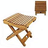 Tabouret pliant en bambou, banc pliable en bambou respectueux de l'environnement avec siège incurvé et...
