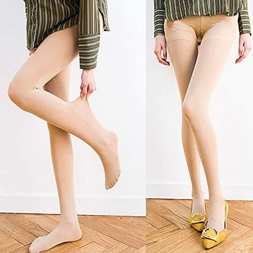 eamqrkt Mujer Elástica Medias Transpirable Color Sólido Alzas Nalgas Medias de Compresión...