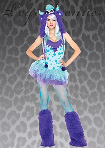 Womens Polka Dotty Sexy Monster-Kostüm XS (UK6-8)