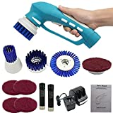 Handheld Electric Scrubber, Home Cleaning Brush Cordless Portable with 6 Replaceable Brush Heads and Ni-MH Rechargeable Battery for Kitchen |Bathroom |Floor | Car |Sink | Wall |Window| Sofa