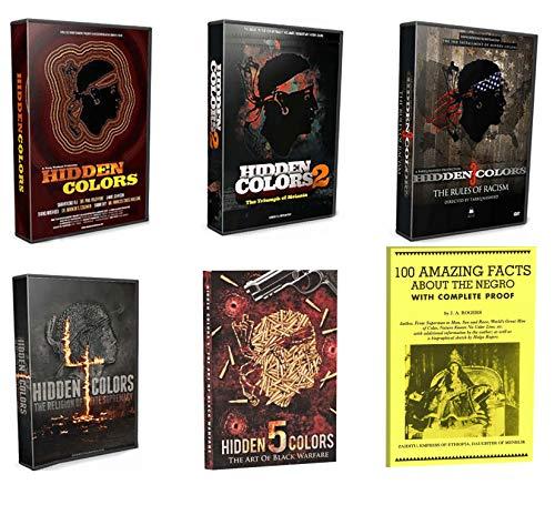 Tariq Nasheed: Hidden Colors 1-5 Complete Documentary DVD Series, Volumes 1, 2, 3, 4 & 5 plus Bonus Book, James Augustus Rogers