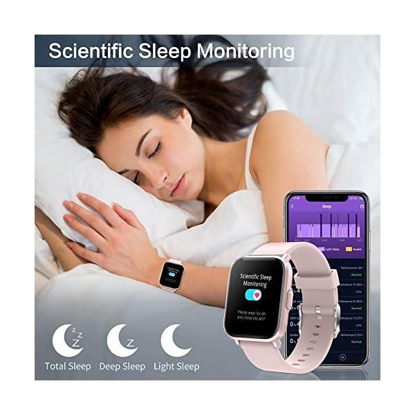 GRDE Reloj Inteligente Hombre Mujer, Smartwatch Fitness 24H Monitor de Oxigeno(SpO2)/Ritmo Cardíaco/Sueño 5ATM… 5