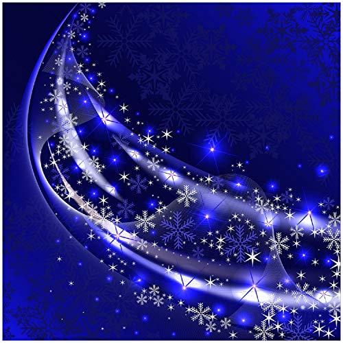 Wallario Acrylglasbild Blaue und weiße Schneekristalle - 50 x 50 cm in Premium-Qualität: Brillante Farben, freischwebende Optik