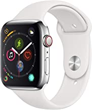 Apple Watch Series 4 (GPS + Cellular, 44mm) - Stainless Steel Case with White Sport Band