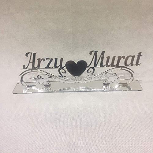 Sticker Design Shop Wunschnamen Tischaufsteller Söz Nisan Dügün Sünnet Wedding Hochzeit Wunschtext