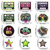 Blulu 80er Jahre Party Dekorationen Kit, 80er Jahre Retro 1980er Jahre Party Hängende Strudel Decke Dekorationen Folie Doppel Spirale 80er Jahre Hip Hop Zeichen Hängende Strudel Dekorationen - 5