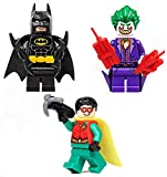 LEGO The Batman Movie Minifigure - Batman, Robin & Joker with Grin Combo (Limited Edition Foil Packs)…