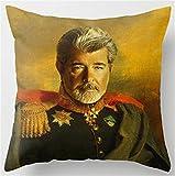 George Lucas Portrait Funda para cojín
