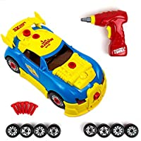 Toysery Racing Car Toy for Kids Take Apart Formula with 30 Take Apart Pieces Creative, Construction Tool Drill, Lights and Sounds