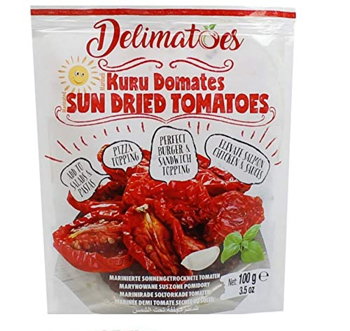 Gurme212 Delimatoes Marinated Sun Dried Tomatoes in Oil 3.5oz Pouch