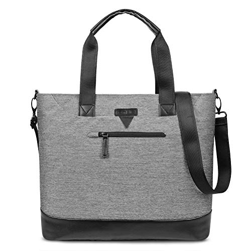 Ladies Laptop Tote Bag,DTBG Stylish Large Womens Business Laptop Shoulder Bag Work Tote Purse Office Messenger Briefcase Travel Shopping Handbag with Strap for Up to 15.6 Inch Laptop Computer,Grey