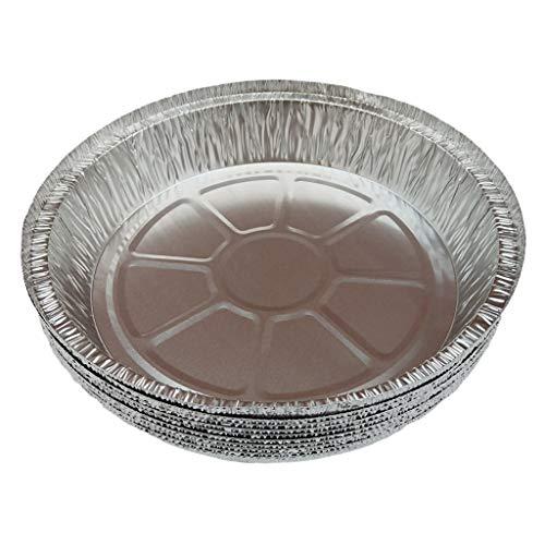 Fenteer Jednorazowe okrągłe foremki do głębokiego ciasta z folii aluminiowej do ponownego ogrzewania trwałe bezpieczne do piekarnika - Multi, 1100 ml 10 szt