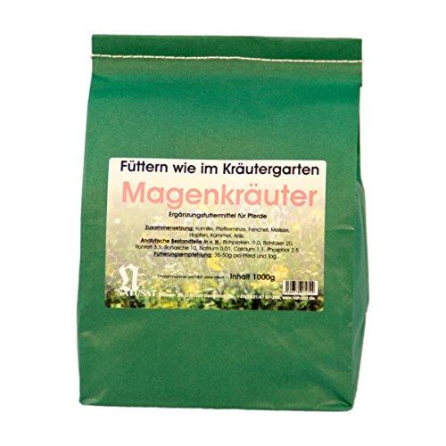 Natusat Kräutermischung Magenkräuter 1000 g - Für Pferde - Mit Kamille, Pfefferminze, Fenchel.....