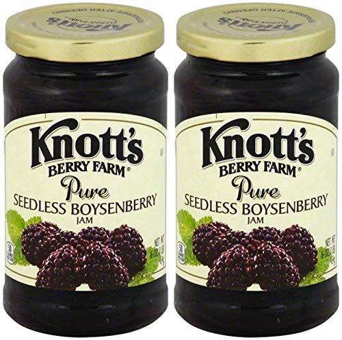 Knott's Berry Farm, Seedless Boysenberry Jam, 16oz Jar (Pack of 2)
