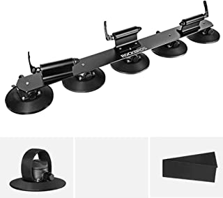 ROCK BROS Suction Cup Bike Rack for Car Roof Top Sucker Bike Rack Quick Release Aluminium Alloy Bike Carrier with Sucker for Car