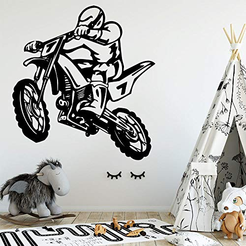 Nuevo producto Etiqueta de la motocicleta Impermeable Papel pintado de vinilo Sala de estar Habitación de los niños Decoración de la pared Mural Mural Etiqueta de la pared 43 * 46 cm Olivialulu